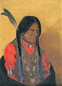 portrait of an indian by edward rufus hill
