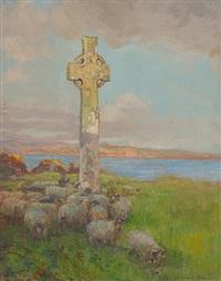 st. martin's cross, iona by archibald kay