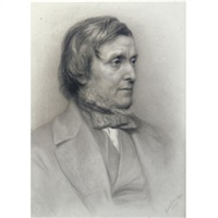 portrait drawing of william boxall, r.a.(1800-1879) by jane fortescue seymour