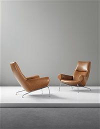 chairs from the ox suite, model no ap-47 (pair) by hans j. wegner