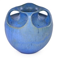 four-handled vase by fulper pottery
