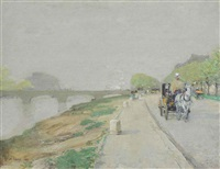 banks of the seine by childe hassam