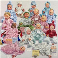 dressed dolls: crochet or knitted by lucy culliton