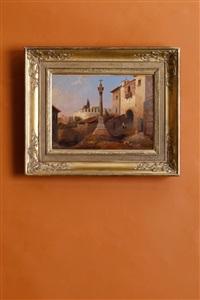 vue prise dans rome près de san pietro in vincoli by jean charles joseph remond
