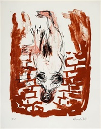 dicke blonde by georg baselitz