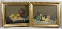 still life with fruit (+ another, lrgr; pair) by paul meyer colyar