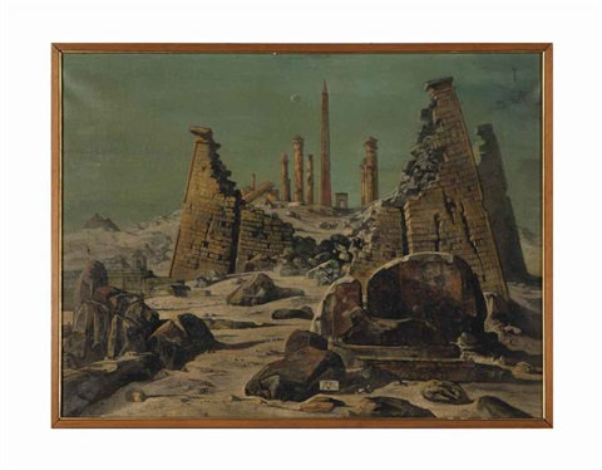 crollo di piloni by eugene berman