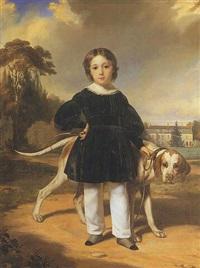 portrait du fils du marquis de séran by ferdinand krumholz