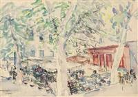 flower market, menton by joseph raphael