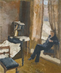 andreas reading by edvard munch