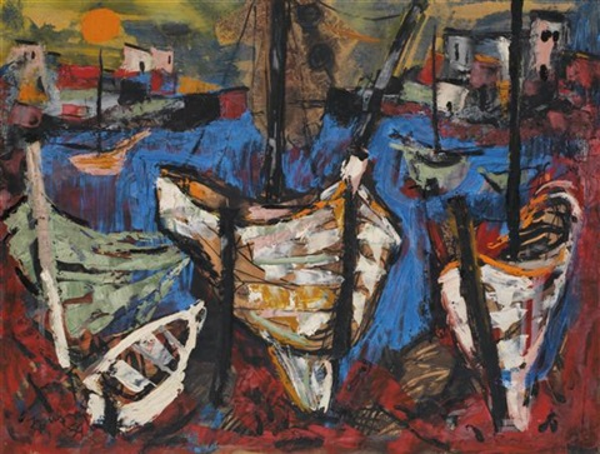 bateaux de pêcheurs by yitzhak frenkel frenel