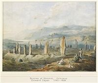 standing stones of stennis, orkney by edward dayes