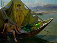 boating on the volga by fjodor ivanovitch rerberg