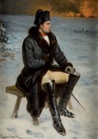 napoléon regardant moscou brûler by ladislaus bakalowicz