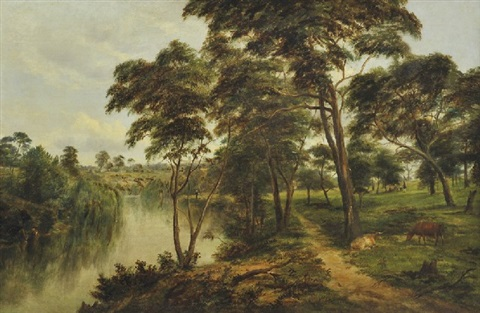 view of the yarra at kew by henry c gritten