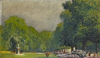a park in summer by yoshio markino