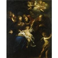 sacra famiglia e angeli by valerio castello
