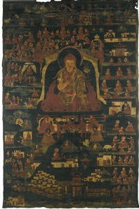 a thangka with kagyupa hierarch and monastery by anonymous-tibetan (19)