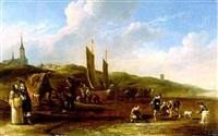 der strand von scheveningen by cornelis de bie