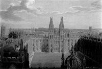 history of the university of oxford, its colleges, halls and public buildings by (publisher) rudolph ackermann
