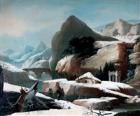 paysage d'hiver by francesco foschi