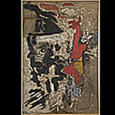 falling red by peter voulkos