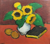 still life with sunflower by ion pacea