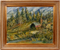 mountain farm scene by alice stanley acheson
