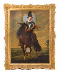 ein heerführer mit dem orden vom goldenen vlies hoch zu ross mit landschaftsausblick by sir anthony van dyck