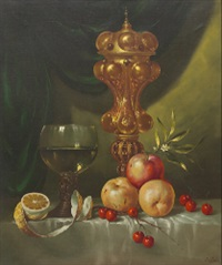 still life with fruit by gyula andreas bubárnik