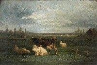 pâturages de vaches (pair) by andré cortes