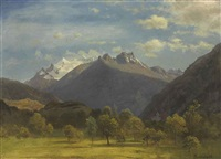 the alps from visp by albert bierstadt