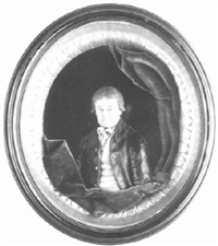 a gentleman, wearing a black coat with gold-coloured buttons by samuel percy