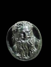 head of a satyr by alphonse legros