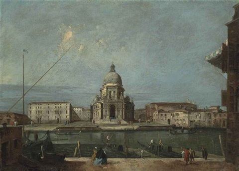 a view of the grand canal venice with the church of santa maria della salute by francesco guardi