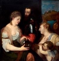 l'allégorie conjugale by titian (tiziano vecelli)