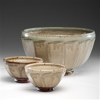 three faceted bowl (set of 3) by richard batterham