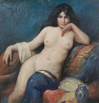 a female nude (study) by leroy