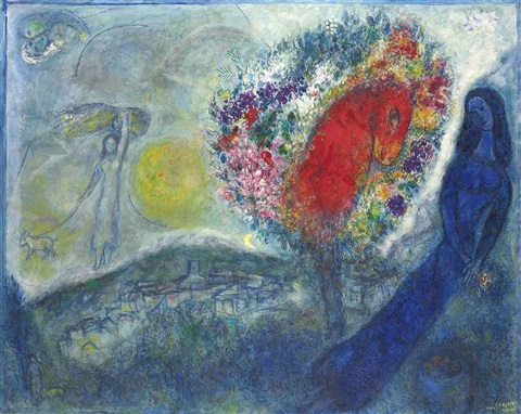 st. jeannet by marc chagall