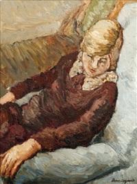 jeune fille endormie by jean louis boussingault