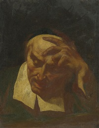 head study of an elderly man reading by giovanni battista piazzetta