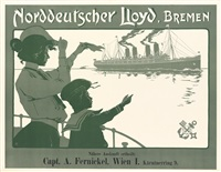 norddeutscher lloyd, bremen kaiser wilhelm ii by fritz rehm