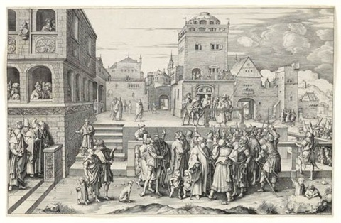 the large ecce homo by lucas van leyden