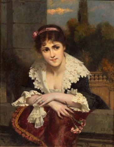 a beauty at the railing by carl rudolph sohn