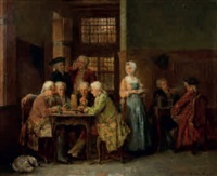 scène de jeu by léon marie constant dansaert