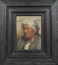 no koora te cigaretti, portrait of kapi kapi by charles frederick goldie