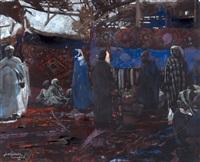 le souk aux tapis, marrakech by jacques majorelle
