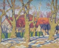 arbres et maisons by ohannès alhazian