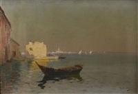 barque à martigues by louis nattero