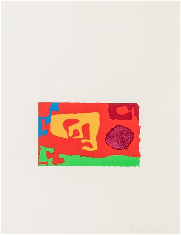 abstract composition (from: shapes of colour portfolio) by patrick heron
